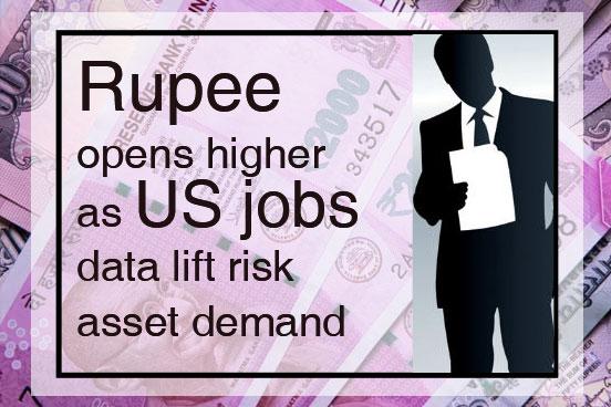 Rupee opens higher as US jobs data lift risk asset demand