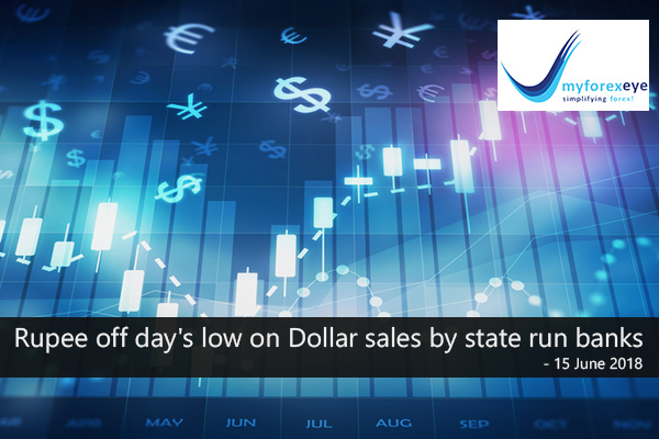 Rupee off day's low on Dollar sales by state run banks