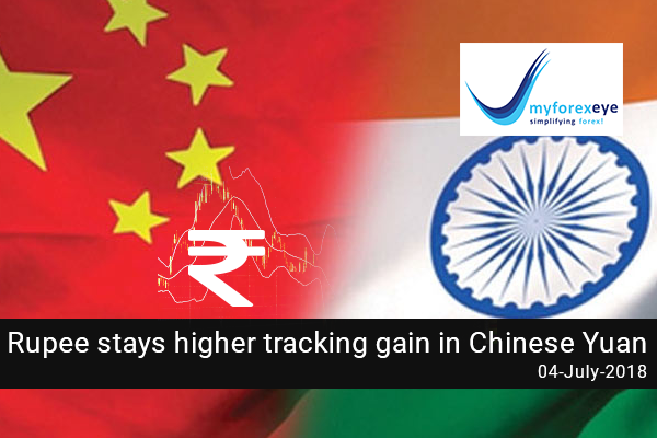 Rupee stays higher tracking gain in Chinese Yuan