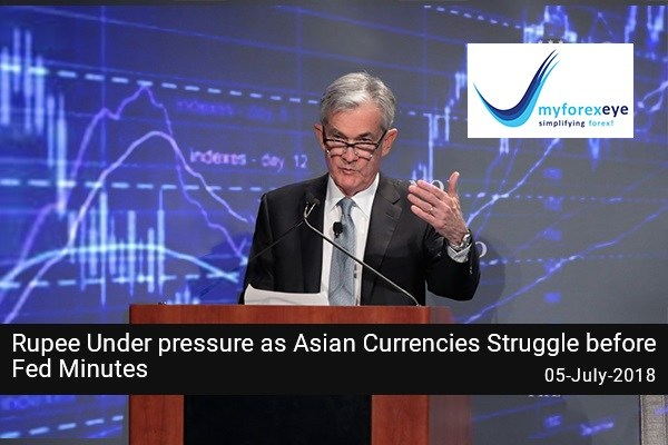 Rupee Under pressure as Asian Currencies Struggle before Fed Minutes