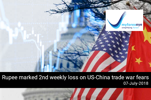 Rupee marked 2nd weekly loss on US-China trade war fears