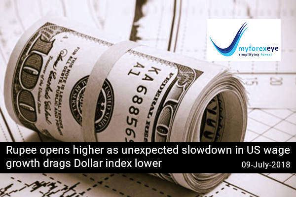 Rupee opens higher as unexpected slowdown in US wage growth drags Dollar index lower