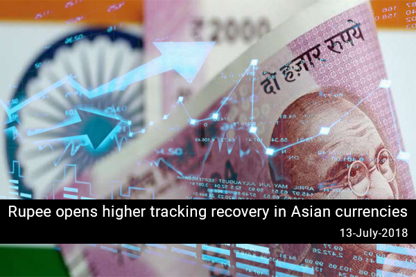 Rupee opens higher tracking recovery in Asian currencies