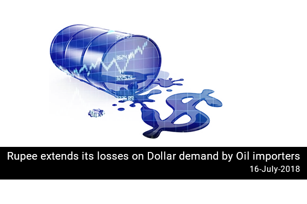 Rupee extends its losses on Dollar demand by Oil importers