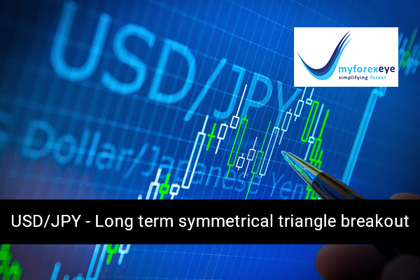 USD/JPY - Long term symmetrical triangle breakout