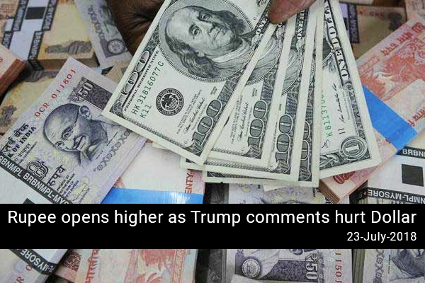 Rupee opens higher as Trump comments hurt Dollar