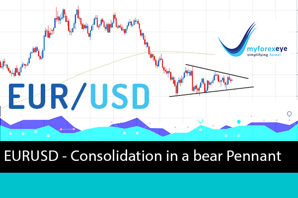 EURUSD - Consolidation in a bear Pennant