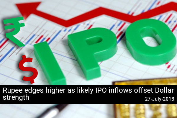 Rupee edges higher as likely IPO inflows offset Dollar strength