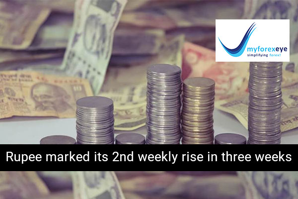 Rupee marked its 2nd weekly rise in three weeks