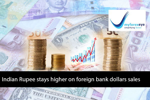 Indian Rupee stays higher on foreign bank dollars sales