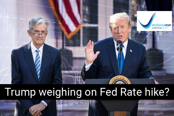 Trump weighing on Fed Rate hike?