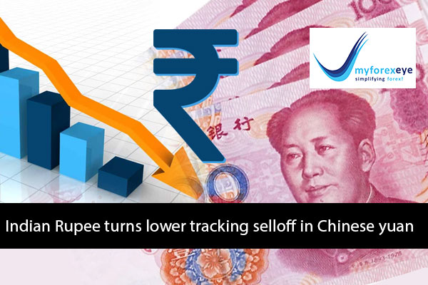 Indian Rupee turns lower tracking selloff in Chinese yuan