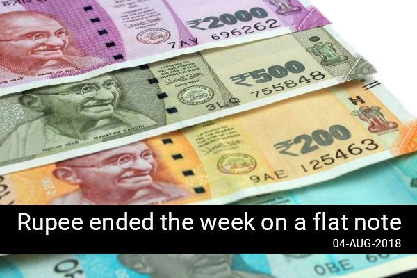 Rupee ended the week on a flat note