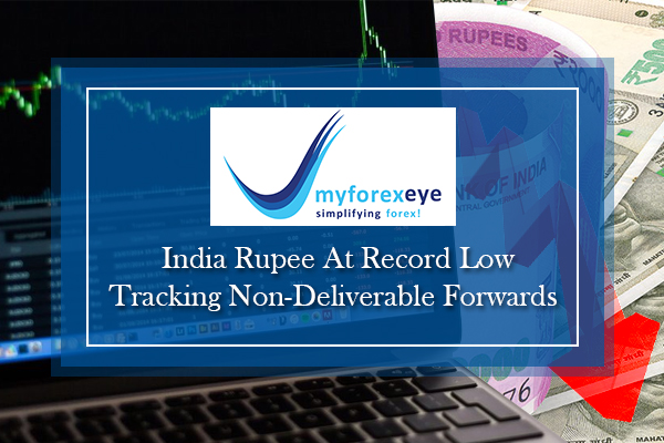 India Rupee At Record Low Tracking Non-Deliverable Forwards