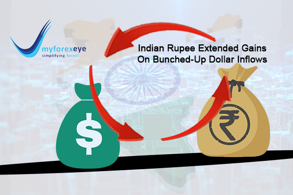 Indian Rupee Extended Gains On Bunched-Up Dollar Inflows