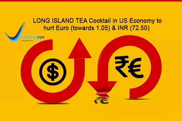 Cocktail in US Economy to hurt Euro (towards 1.05) & INR (72.50)