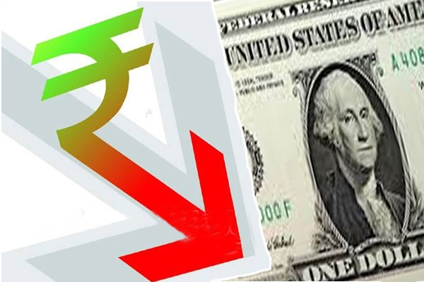 Indian rupee remained lower against the dollar as foreign banks stepped up greenback purchases