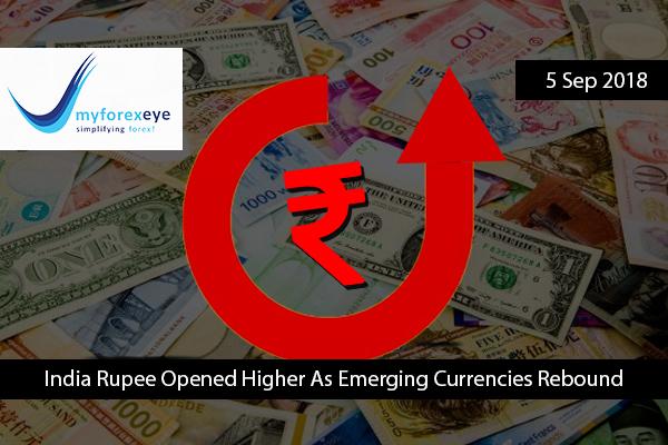 India Rupee Higher As Emerging Currencies Rebound