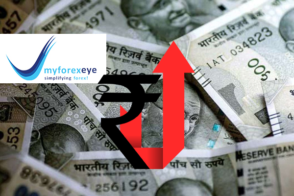 Rupee higher after U.S. oil slips