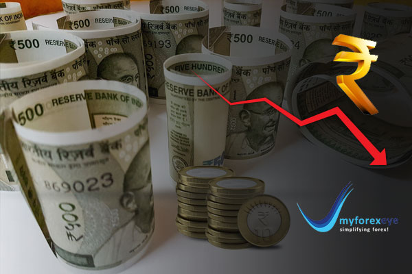Rupee Lower On Corporate Dollar Bids; Lower Oil Curbs Losses