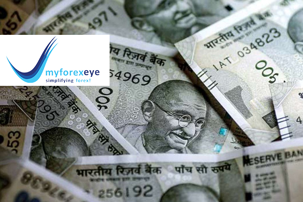 The rupee settled higher today at 71.02 to a dollar