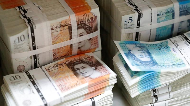Sterling rises above $1.24; short positions up for 12th week running